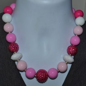 Jewelry - Vintage Funky Pink Statement Necklace